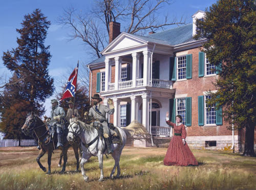 """General Forrest at Carnton"" by John Paul Strain"